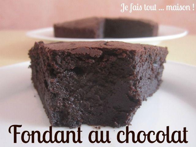 Fondant au chocolat noir et au lait concentré non sucré