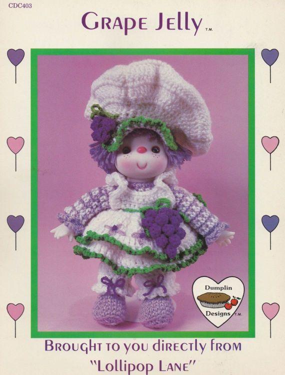 Grape Jelly, Dumplin Designs Lollipop Lane Crochet Doll Pattern Booklet CDC403