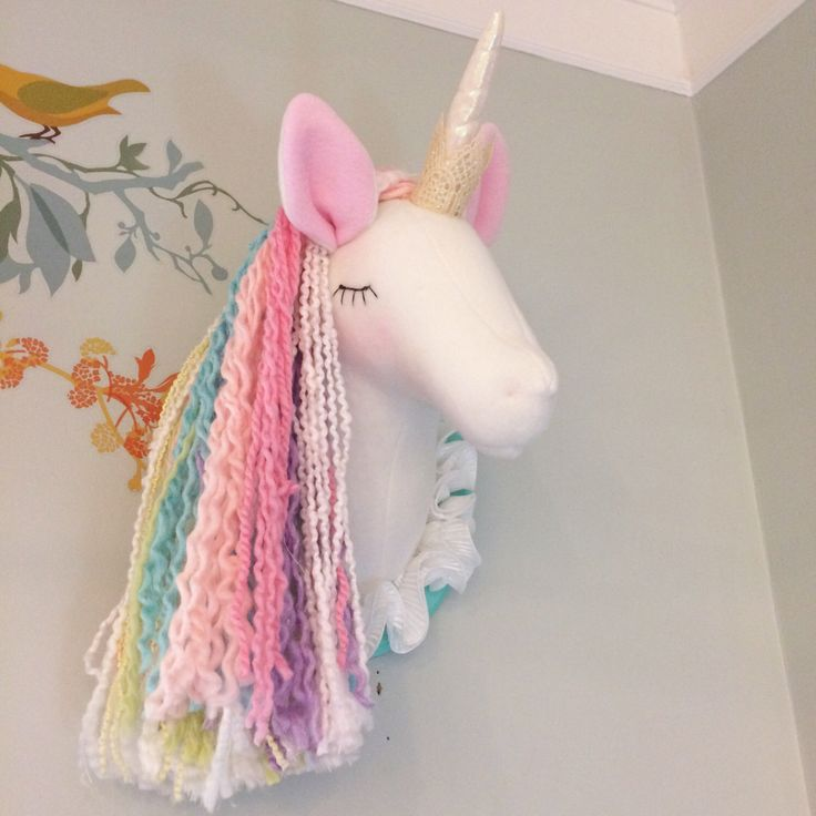 Unicorn Head; faux taxidermy; pastel unicorn; unicorn princess by MainsailStudio on Etsy https://www.etsy.com/listing/491194099/unicorn-head-faux-taxidermy-pastel