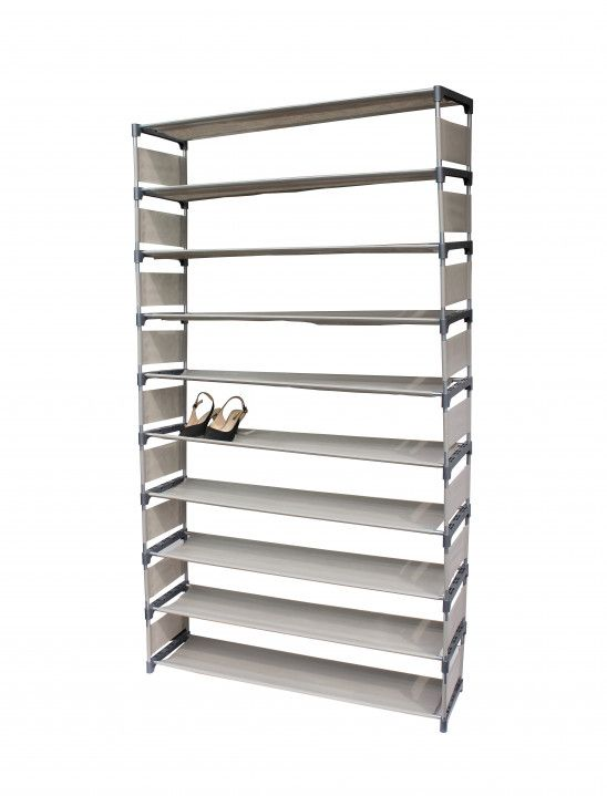 50 Pairs 10 Tiers Shoe Rack With Images Shoe Rack Stackable
