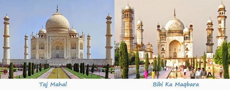 """Did You Know India Has 2 Taj Mahals? We didn't until we stumbled upon this little brother of the Taj Mahal in Agra, it's called Bibi Ka Maqbara (""""Tomb of the Lady"""") built by Prince Azam Shah, the son of the sixth Mughal Emperor Aurangzeb, between 1651 and 1661 A.D, in the memory of his mother, Dilras Banu Begum. Probably not a coincidence that Prince Azam Shah is the grandson of Mughal Emperor Shah Jahan, who built the original Taj Mahal."""