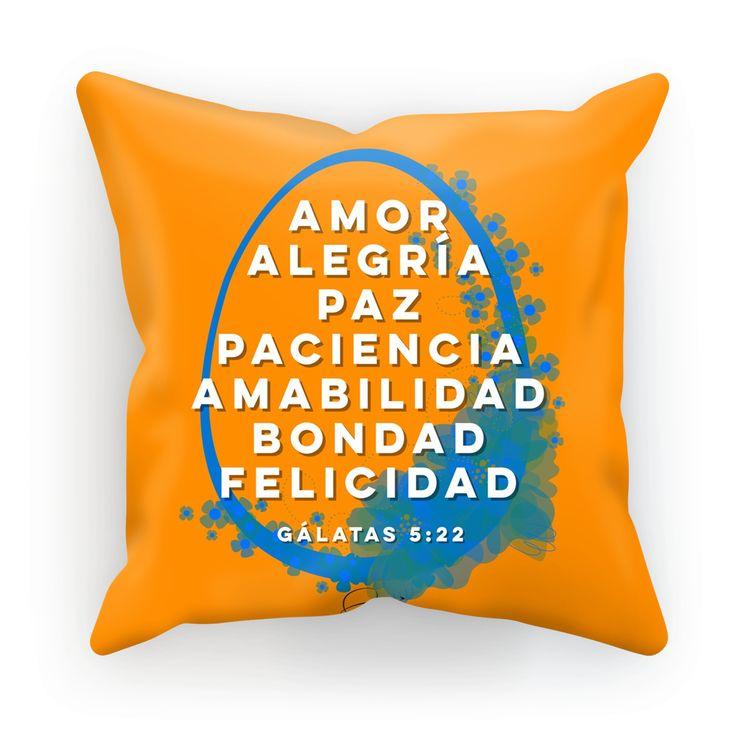 Orange Gálatas Dones del Espíritu - Custom Decorative Pillow