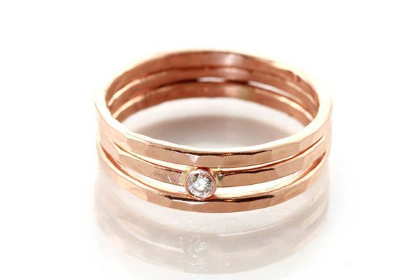 33 Quirky Engagement Rings For Alt Brides #refinery29  http://www.refinery29.com/61572#slide-24  ...