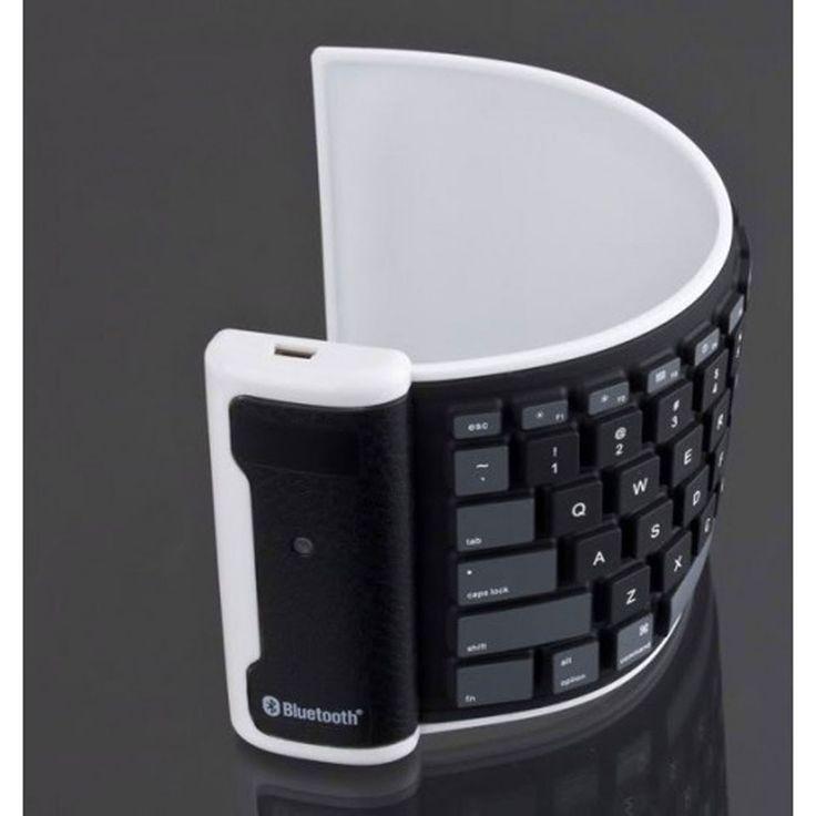 iPhone/iPad Full Size Roll Up Flexible Wireless Keyboard.