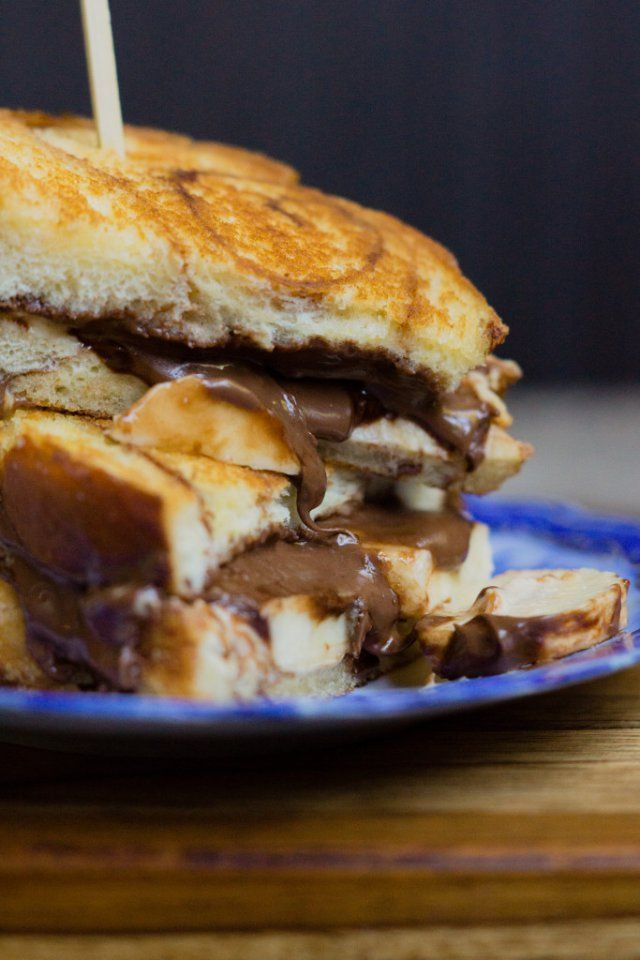 Banana, Nutella, and Brown Sugar Cinnamon Cream Cheese Grilled Cheese