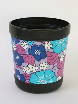original 1970s flower print bin! I had othis exact bin(very 70's colouring) think I bought it in Woolworth. akl