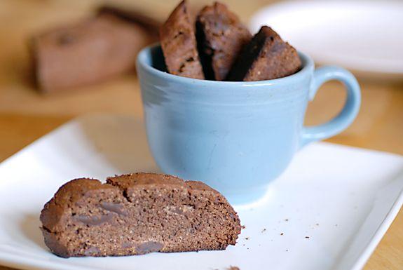 Gluten-free double chocolate mocha biscotti