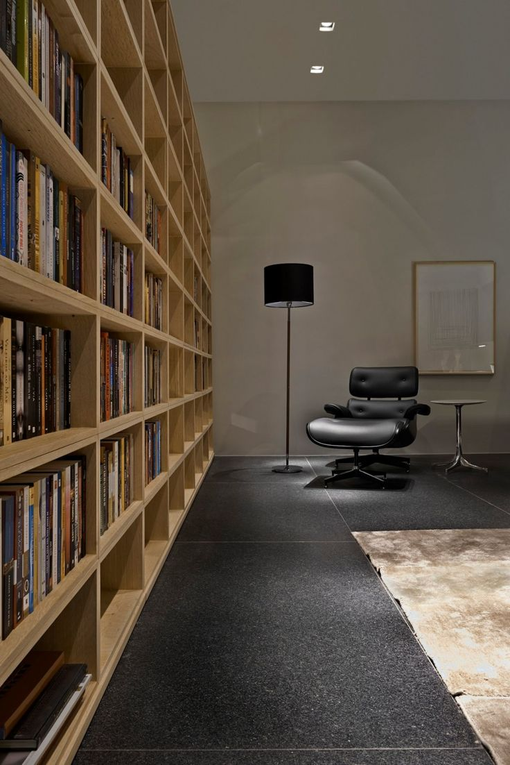 Library Wall with black Eames chair pd_250614_20 » CONTEMPORIST