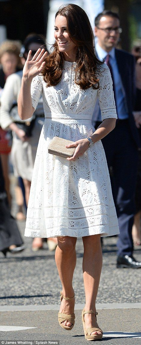 The Duchess looked to be having a great time taking in the sights and sounds of the show