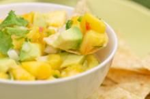 Mango, Papaya & Avocado Salsa Recipe :: Fresh Hass Avocado Recipes #Avocado #CincoDeMayo