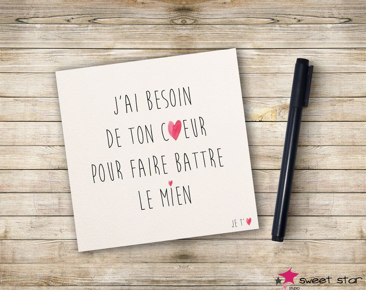 Carte Mot d'Amour : Cartes par sweetstar