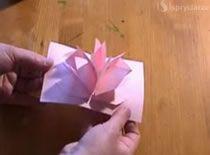 Jak Zrobic Rozkladanego Kwiatka Z Papieru Paper Craft Supplies Paper Crafts Crafts