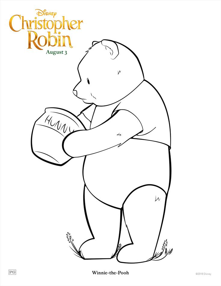 Free Printable Christopher Robin Coloring Pages