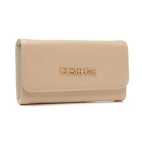 Michael Kors Logo Signature Carryall Large Ivory Wallets - $39.99