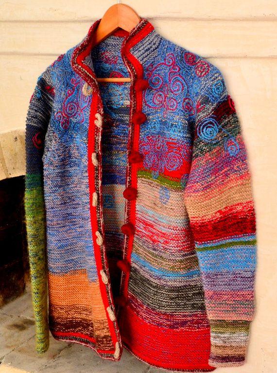 Women's jacket with embroidery by MasheraKraft on Etsy