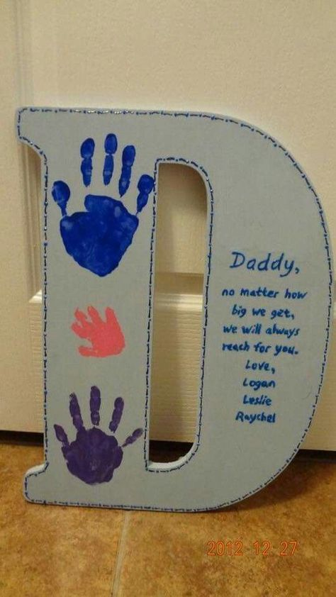 Cute father's day project for the girls!