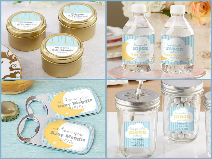 To the Moon and Back Personalized Party Favors from HotRef.com