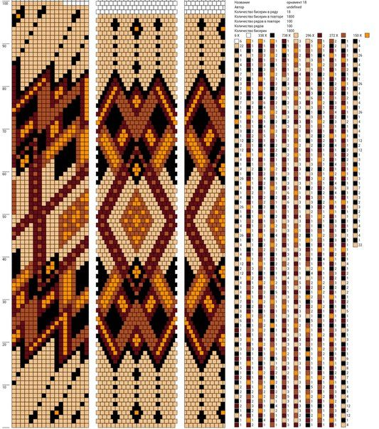 18 around bead crochet pattern (Жгуты из бисера ✜ Вязание с бисером ✜ Схемы | VK)