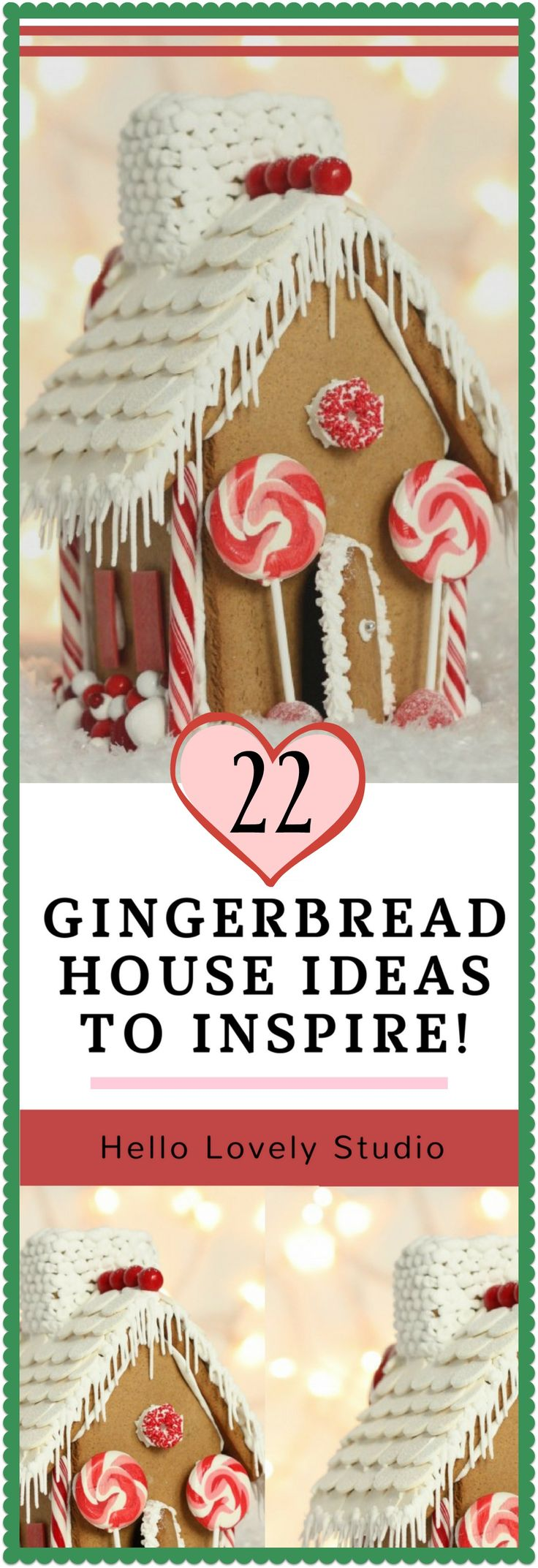 A Christmas craft for boys of any age and girls to grandmas! Ready to be inspired by the best gingerbread houses with their sweet candy embellishment and clever crafty construction? 22 Best Gingerbread House Ideas: Christmas Crafts! #holidayinspiration #gingerbreadhouse #christmascrafts