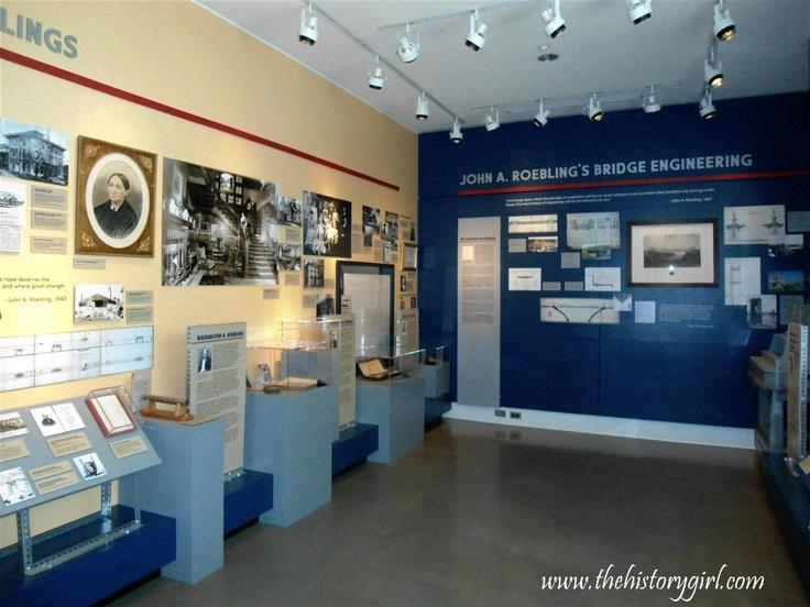 Inside the Roebling Museum, Roebling, NJ.