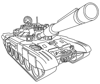 18 Best Military Coloring Images On Pinterest Coloring Book Army Tank Happy Birthday Coloring Page
