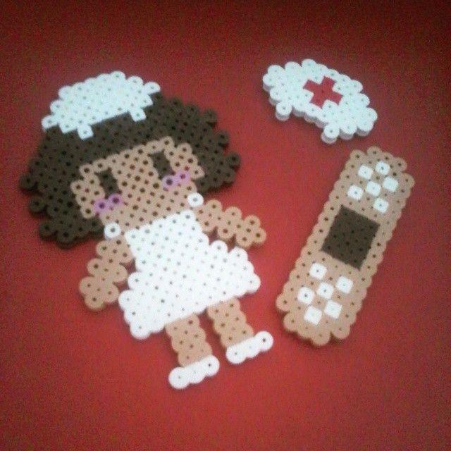 Nurse hama beads by trendy.beads