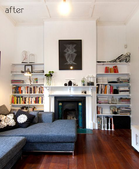 Living Room Makeover: Way To Position Sectional With Fireplace That Doesn't Make