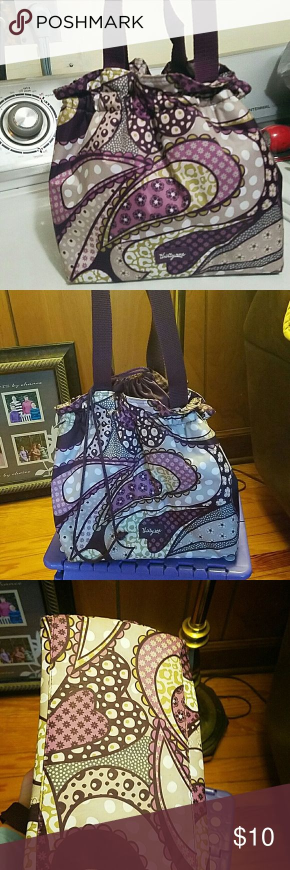 Insulated lunch tote Thirty-one insulated tote!! In good condition!! Thirty-one Bags Totes