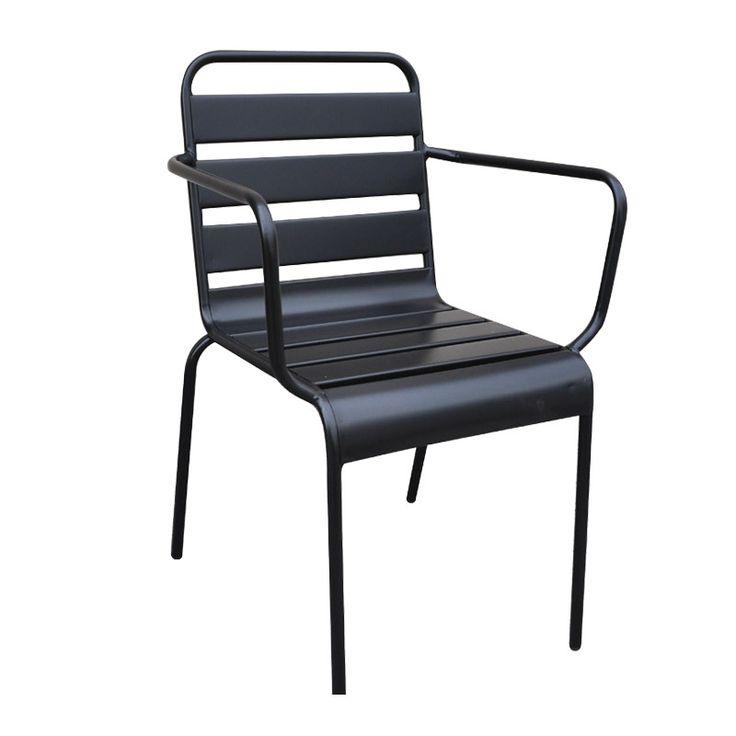 Comfort garden armchair steel black