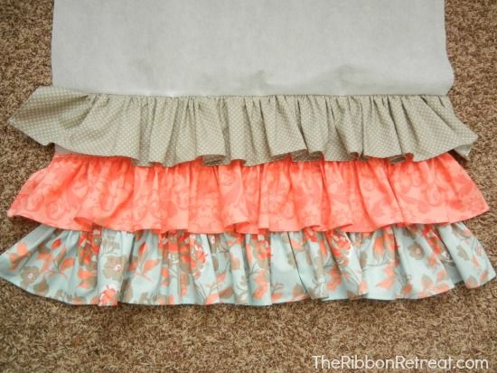 Ruffled Crib Skirt Tutorial - The Ribbon Retreat Blog Best ruffled crib skirt tutorial I have found!