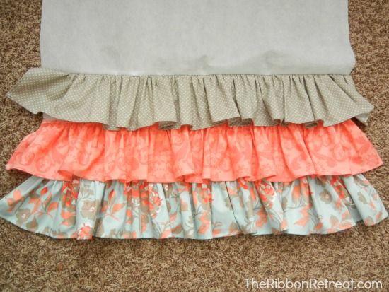 Ruffled Crib Skirt Tutorial - The Ribbon Retreat Blog Best ruffled crib skirt tutorial I have found!