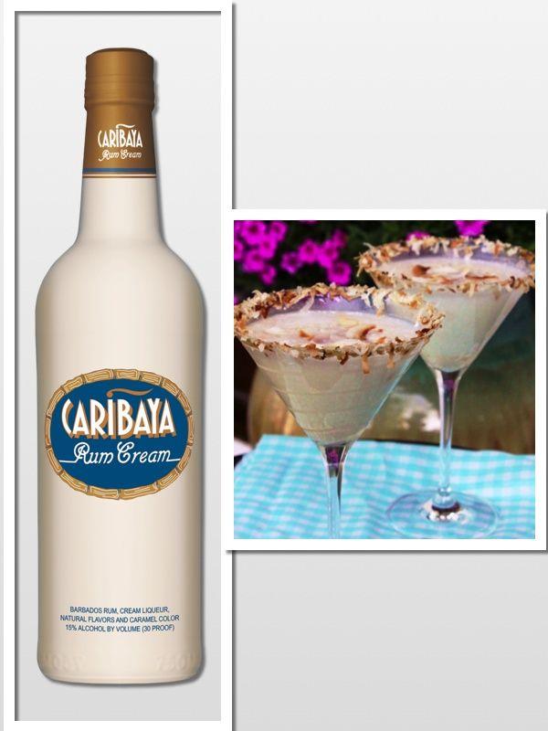 Martini: 2 oz. Caribaya Rum Cream Liqueur 1 oz. Caribaya Coconut Rum ...