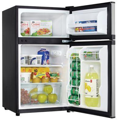 Danby 3.1 Cu. Ft. Spotless Steel Dual Door Compact Refrigerator with Separate Freezer | hhgregg