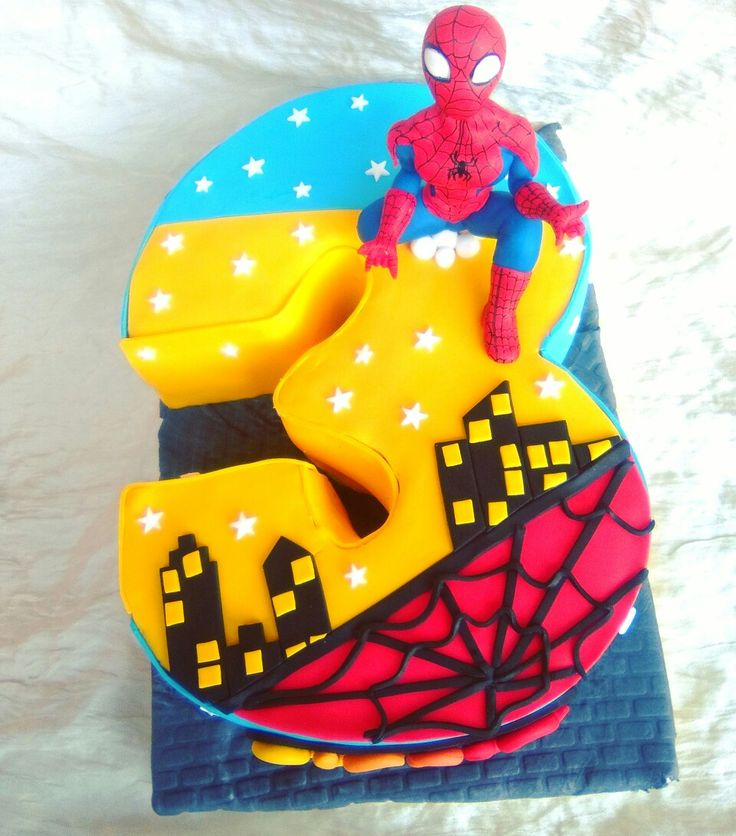 Torta Spiderman numero 3