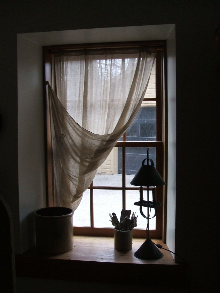 tobacco cloth curtains - love these..