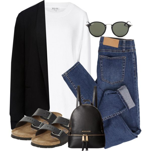 Sem título #4498 by lguimaraes on Polyvore featuring Reiss, Forever New, Cheap Monday, Birkenstock, MICHAEL Michael Kors and Ray-Ban