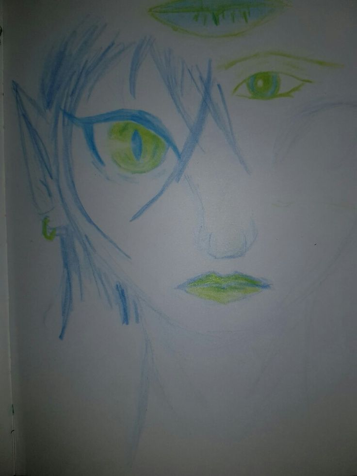 Playing with blue and green