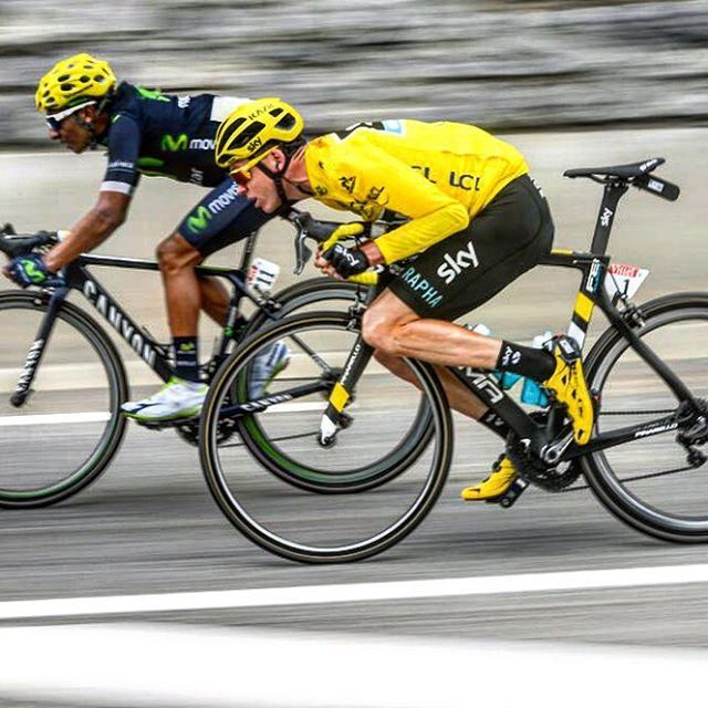 Chris Froome and Nairo Quintana stage 10 Tour de France 2016 #tdf2016