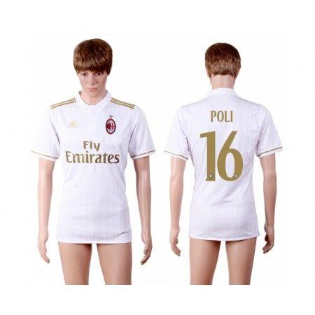AC Milan 16-17 #Poli 16 Bortatröja Kortärmad,259,28KR,shirtshopservice@gmail.com