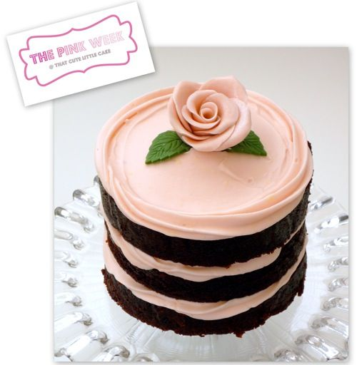 That Cute Little Cake: {The Pink Week} Miette inspired mini-cake with link to rose tutorial