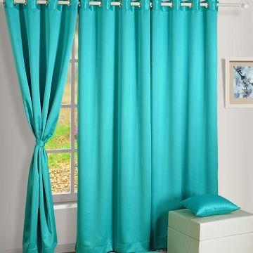 Marvelous Swayam Blue Premium Blackout Curtain With Eyelet