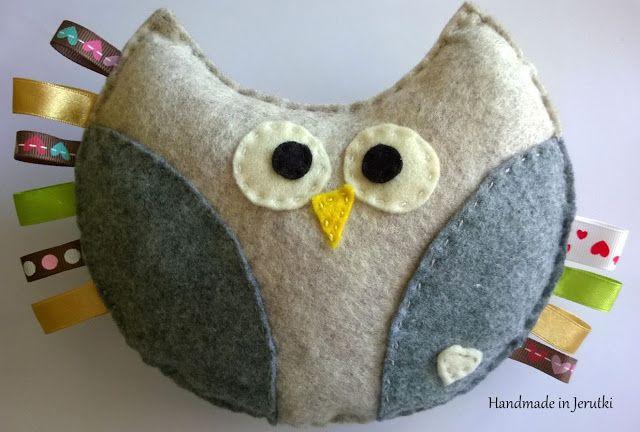 "Handmade in Jerutki: Sówka Mania do ""ciumkania"" / felt Owl"