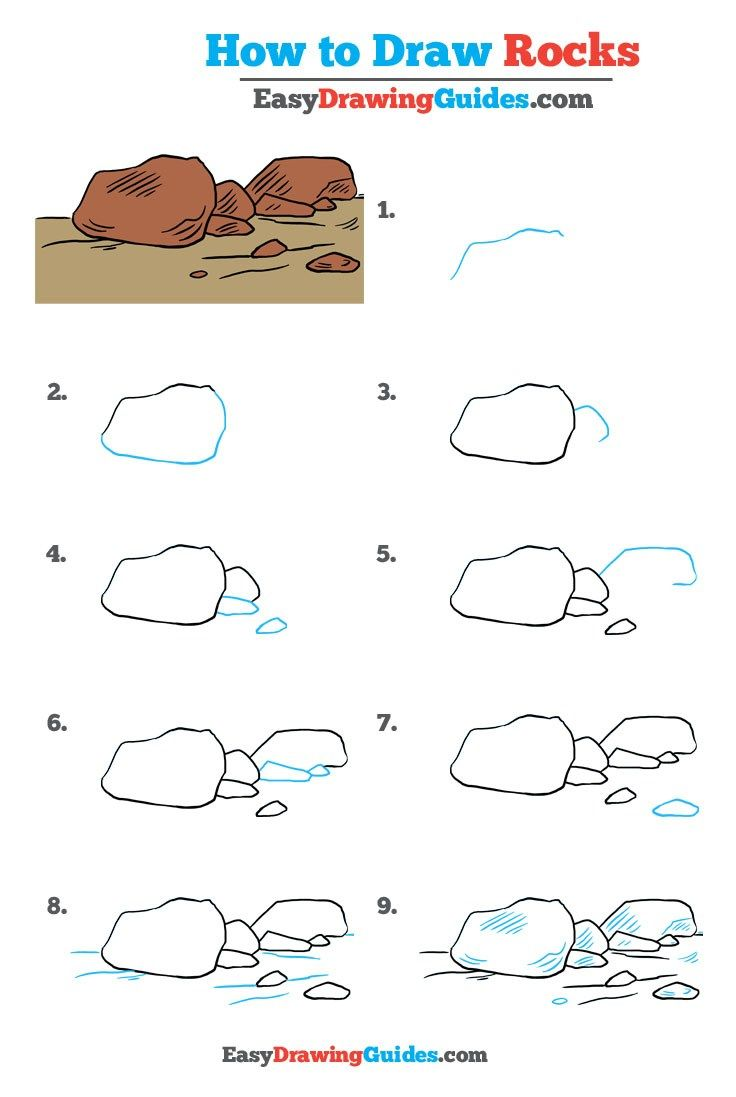 Learn How to Draw Rocks: Easy Step-by-Step Drawing Tutorial for Kids and Beginners. #rocks #drawingtutorial #easydrawing See the full tutorial at https://easydrawingguides.com/how-to-draw-rocks-really-easy-drawing-tutorial/.