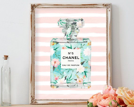 Chanel chanel chanel no 5 coco chanel printchanel by AdornMyWall