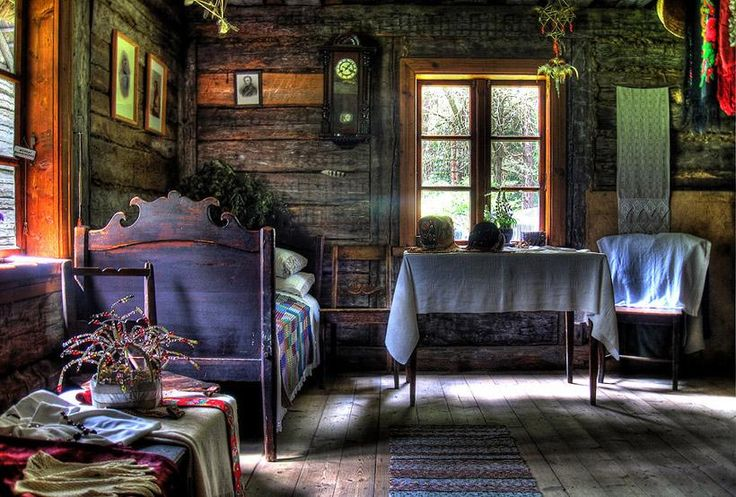 Old bedroom at the Ethnographic Open Air Museum, Riga, Latvia. Photo by Rainer Bolik - Pixdaus