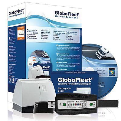 GloboFleet Starter Set Optimal DK II Driver cards Tachograph evaluate
