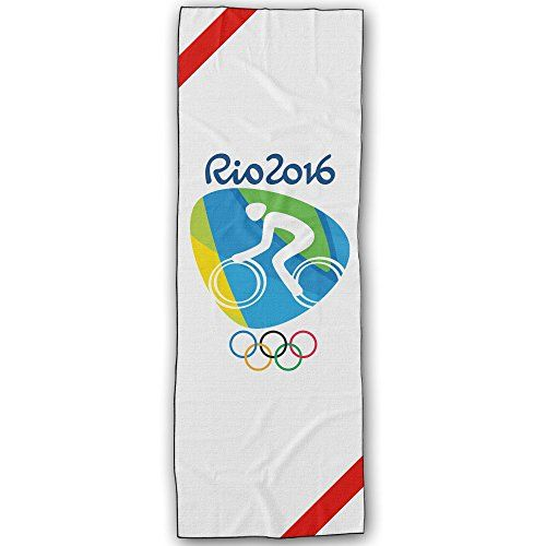 WuliNN Road Cycling Logo Rio Olympics 2016 Super Absorbent Microfiber Non Slip Yoga Towel Hot Yoga Towel 72  24 Inch * More info could be found at the image url.