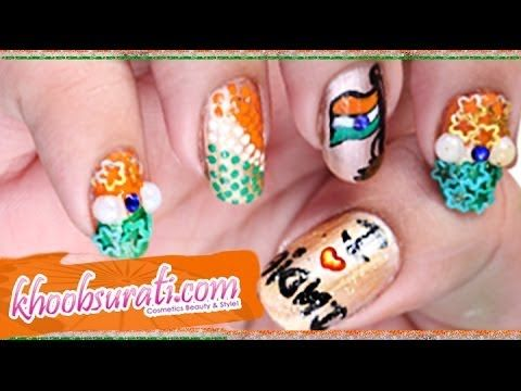 Independence Day Nail Art Design