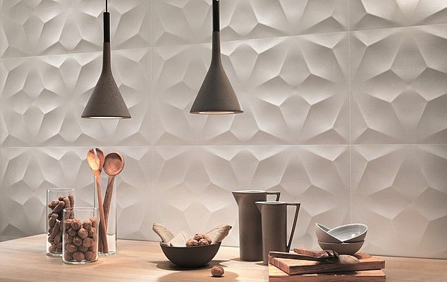 Ceramiche Atlas Concorde 3D Wall 3D Wall-Atlas Concorde-1 , Living room, Bathroom, 3D effect effect, Ceramic Tile, wall, Matte surface, Glossy surface, Rectified edge, non-rectified edge