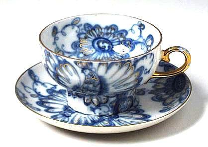 "Russian Teacup ""Singing Garden"" from Lomonosov Porcelain"